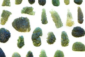 czech moldavite mineral collection isolated